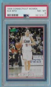 1998 Connecticut Women Sue Bird Freshman Rookie PSA 8 NM/MT Seattle Storm Scarce