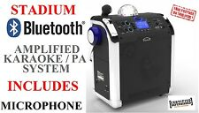 Stadium Portable Amplified Active PA Speaker Bluetooth Radio USB MP3 Guitar Amp