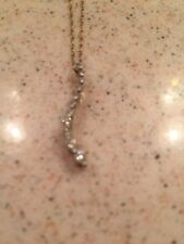 Eternity Diamond Necklace 14K Solid Gold Stunning GUC Gift Idea Vintage