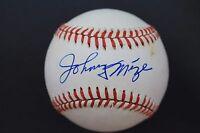 Johnny Mize Cardinals Giants HOF Autographed ONL Signed Baseball JSA B3