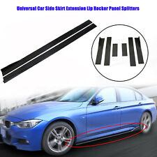 Car Side Skirt Extension Rocker Panel Splitters Lip Universal For Honda BMW