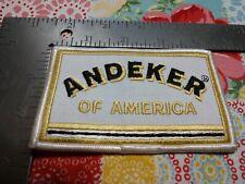 P ANDEKER OF AMERICA BEER PATCH OR CAP JACKET OR UNIFORM 4 1/4 x 2 3/4 large
