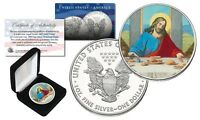 JESUS CHRIST LAST SUPPER 1 oz. .999 SILVER AMERICAN EAGLE Coin with Display Box