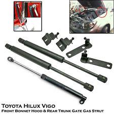 Front Bonnet + Rear Trunk Gas Shock Strut Damper For Toyota Hilux Vigo SR5 05-14