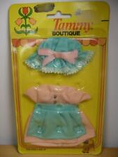 Vtg Nos Tammy Boutique Mini Dolls Clothes Pink And Blue Dress & Hat 9272-6