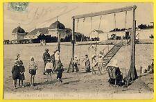 cpa 17 - CHATELAILLON en 1907 (Charente Maritime) La PLAGE Balançoire Bains