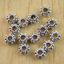 90pcs Tibetan Silver Beaded Round Spacers H0515