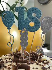 Handmade Set of 5 large cake toppers 18th birthday