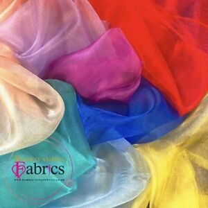 Sheer Organza Fabric Voile Drape Curtain, Wedding Fabric 150cm Wide Organdie