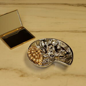 Trinket Tray Metal Silver Colored Octopus Ring Jewelry Holder Decorative Dish