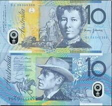 AUSTRALIA COWBOY $10 POLYMER PLASTIC BANKNOTE CIRCA 2008 P-58e - NICE UNC!