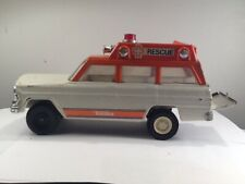 Vintage Tonka Jeep Wagoneer Rescue Ambulance 1973-1975 45 years old