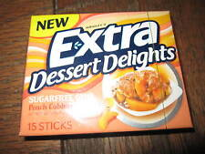 Extra Dessert Delights PEACH COBBLER Chewing Gum (1 Sealed Collector Pack)