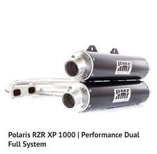 HMF Polaris RZR XP 1000 2015-2017 Performance Series Dual Full Exhaust Black