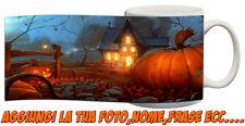 Tazza Personalizzata Happy Hallowen paesaggio autunnale fantasma zucche