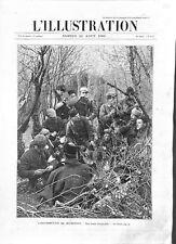 Insurrection en Macédoine bivouac d'insurgés rebelles macédoniens  GRAVURE 1903
