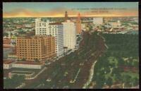 Biscayne Boulevard Miami Florida Lot of Two Vintage Postcards Skyscraper Hotels