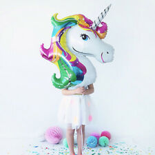 112cm Giant Unicorn Foil Balloon Party Decorations Horse Kids Birthday Balloons