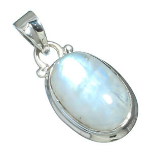 """RAINBOW MOONSTONE NATURAL GEMSTONE 925 SOLID STERLING SILVER JEWELRY PENDANT1"""""""