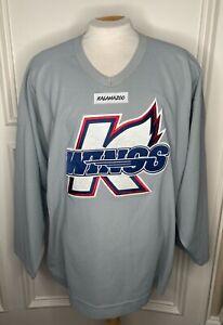CCM ECHL Pro Stock Kalamazoo Wings K-Wings Grey Practice Jersey 6004