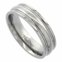 Men's Comfort Fit Titanium Size 11 Wedding Band 6mm Highly Polished C34