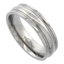 Men's Comfort Fit Titanium Size 10 Wedding Band 6mm Highly Polished C34