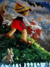 "Thomas Kinkade Disney Pinocchio Fleece Throw Handmade 55"" X 46"" Euc"