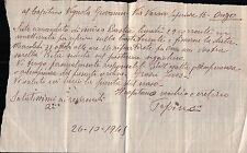 LETTERA SCRITTA NEL 1945 PER IL CAPITANO VIGNOLA DA BASTIA PER ONZO  C10-824