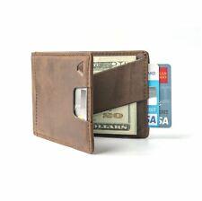 Andar - Slim Bifold Wallet, Pull Tab RFID Block, Full Grain Leather - The Ranger