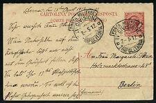 Tripolitanien Libyen 1912 Antwort-Postkarte Italienische Militärpost Berlin/15