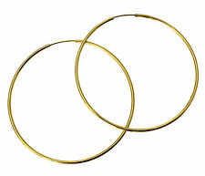 """14K Yellow Gold 1.5mm Thickness Polished Large Endless Hoop Earrings 55mm 2-1/8"""""""