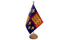 Royal Banner 16th Jahrhundert Tisch Flagge mit Holz Ständer