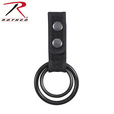 New Rothco Police Duty Security Double Ring Belt Mount Baton Flashlight Holder