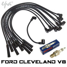 Ford Cleveland 302 351 XY XA XB XC Denso Spark Plugs & Ignition Lead Set #CPLS