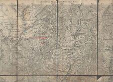 cartina alpina - valgrisance  - 1:50.000 - in tessuto telato -