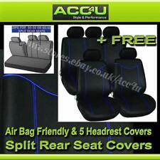 Noir Bleu Broderie Airbag compatible voiture 50-50 60-40 fendue arrière