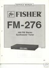 FISHER ORIGINAL Service Manual FM-276 FREE USA SHIPPING