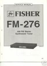 FISHER ORIGINAL Service Manual FM-276 FREE USA SHIPPING