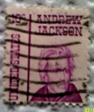 1967 U. S. Scott 1285 Andrew Jackson one used and cancelled ten cent stamp