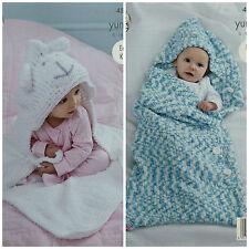 KNITTING PATTERN Baby Lion Hood Blanket &Sleeping Bag Yummy Chunky KingCole 4534