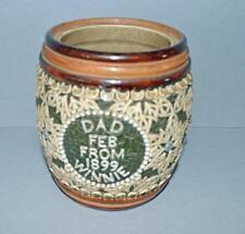 Old Royal Doulton Lambeth Highly  Decorated Stoneware Tobacco Jar -1899 ??.