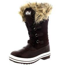 Women's Winter Boots Snow Fur Warm Insulated Waterproof Rain Tall Shoes Size 9