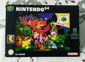BANJO KAZOOIE N64 PAL VERSION ESPAÑA JUEGO COMPLETO NINTENDO 64 RARE RETRO NES