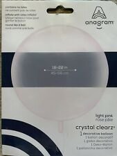 Anagram Light Pink Crystal Clearz Round Bubble Balloon 18'-22'