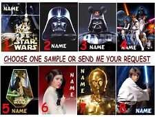 PERSONALIZED Disney STAR WARS - Fridge or Cruise Magnet (great Fish Ext)