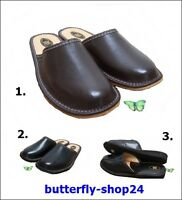 Mens Slipper Shoes Mule 100% Natural Leather Hand Made Black Brown Size6-12
