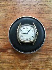 Vintage Elgin Art Deco Watch, 14k Etched Gold Filled Case, Good Balance!