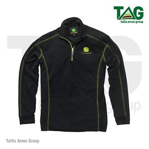 Genuine John Deere Black Fleece Pullover Jumper With Zip - MCS2602500