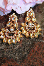 South indian Temple earring bollywood designer ethnic bahubali jhumki sari new