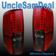 FOR NISSAN FRONTIER EURO RED SMOKE LENS LED L.E.D. TAIL LIGHT PAIR DIRECT FIT